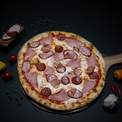 4 meats Pizza