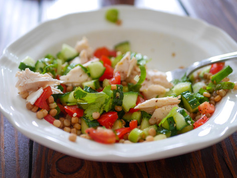 Greek Salad with Rotisserie Chicken