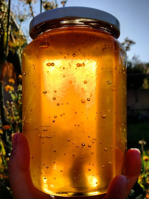 1.1kg of Raw honey in Glass jar