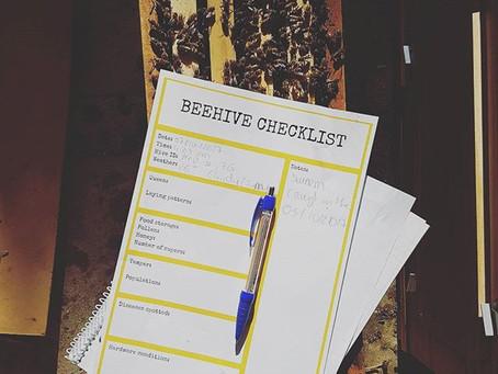 FREE record keeping sheet,