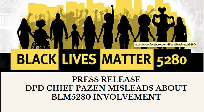 March 25, 2021 Press Release: DPD Chief Pazen is Lying
