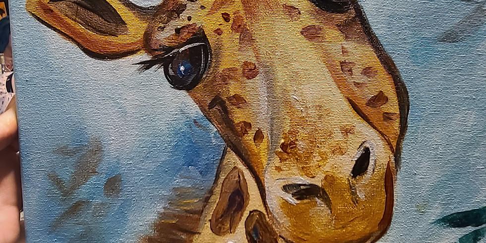 Cute Giraffe, family time (pre sketched)