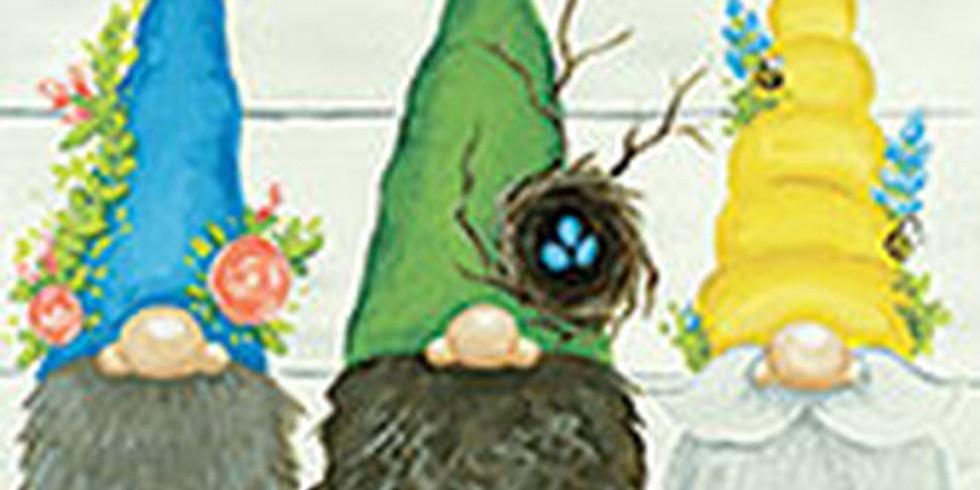 Garden Gnomes on Wood