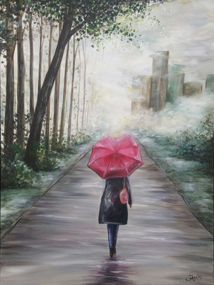 Misty Day in the Park Painting
