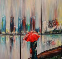 Rain is Beautiful - In Red Rain Girl