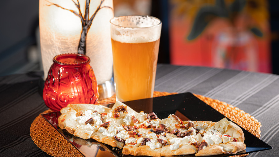 Beer and Flatbread pizzas
