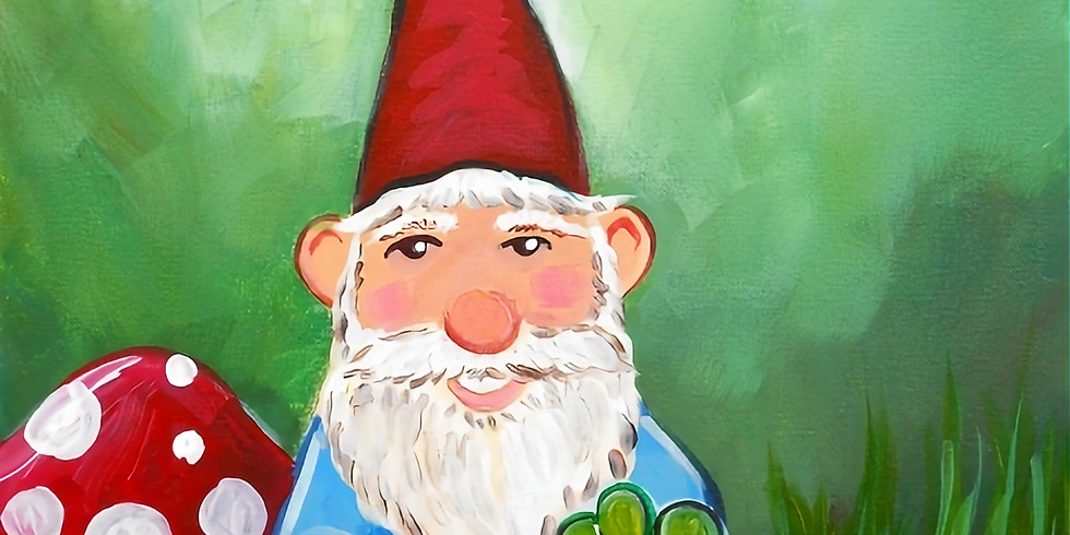 St Patty's Gnome Paint and Sip night