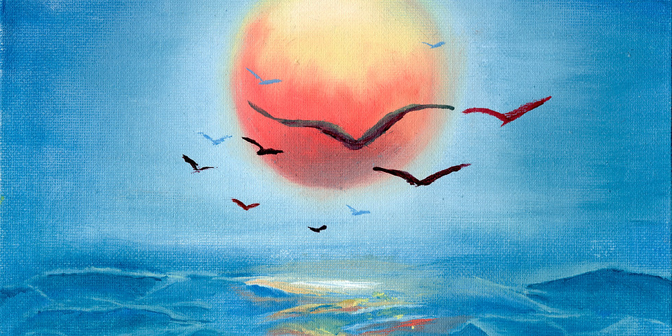 Flight over the Ocean Instructed Paint and Sip Event