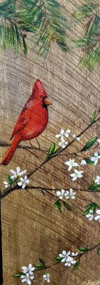 Cardinal Painting on Wood