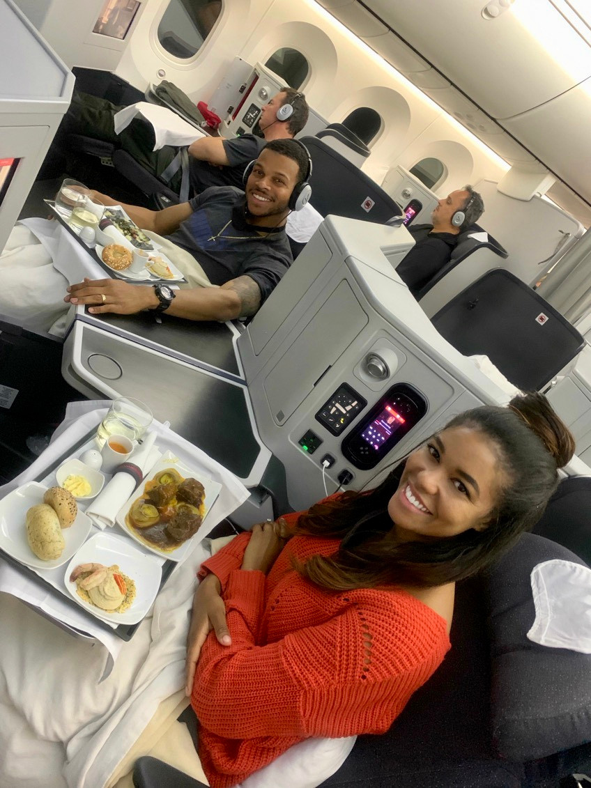 Business Class Seat on long haul flight