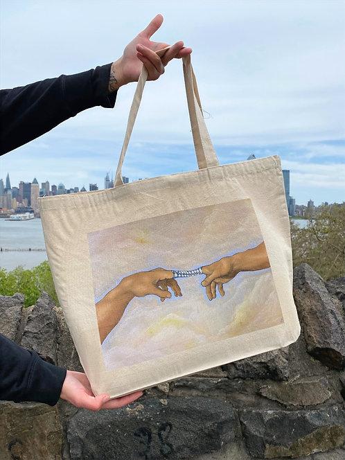 'Creation of--we're stuck!' Big Tote Bag