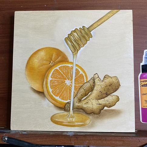 Ginger, orange & honey study 🍯Really ha