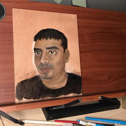 Portrait study of my father oct- 2019
