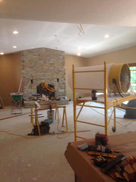 Drywall finish, large vaulted room...