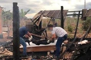 Homem morre carbonizado em incêndio na zona rural de Vilhena