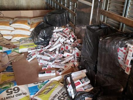 Carga, com 90 mil maços de cigarros paraguaio, é apreendida pela PRF em Vilhena