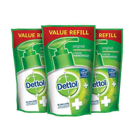 Dettol Germ Protection Handwash Refill - 175 ml (Original, Pack of 3)