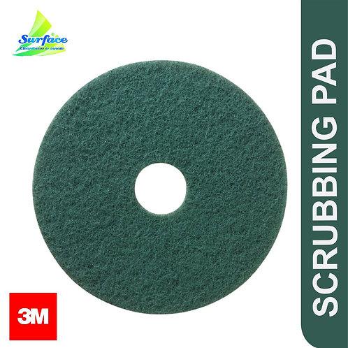 "3M Green Scrubbing Pad , Size 17"""