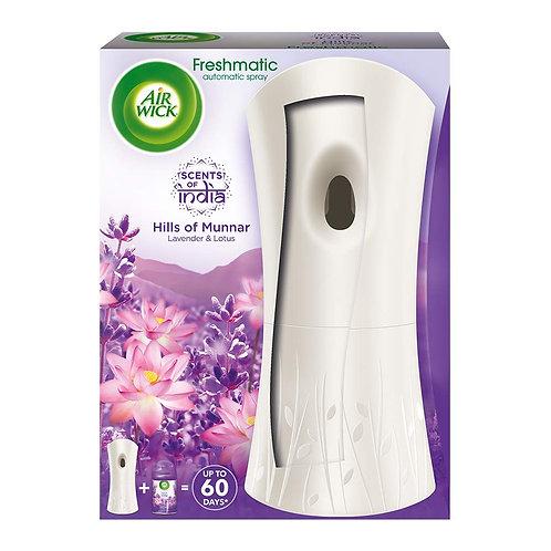 Airwick Freshmatic Air Freshner Complete Kit, Hills of Munnar - 250 ml (Lavende