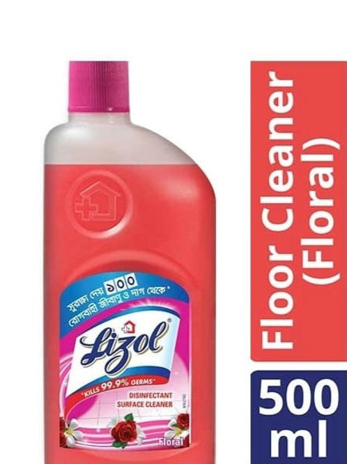 Lizol Disinfectant Floor Cleaner Floral, 500 ml