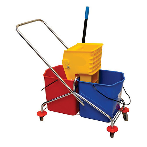 Surface Wringer Trolley , Double Bucket , SS frame - 60 Ltr