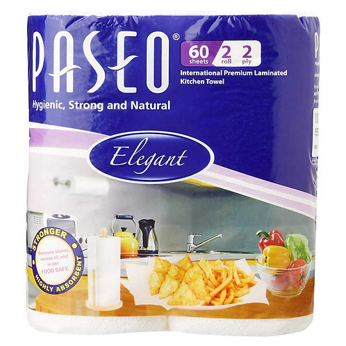 Paseo Tissues Plain Kitchen Towels - 2 Rolls
