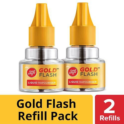 Good knight Gold Flash - Mosquito Repellent Refill, 45 ml (Pack of 2)