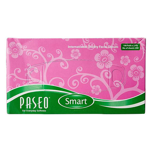 Paseo Facial Tissues  - 100 Pulls ( 2 ply , 4 Pcs Pack )