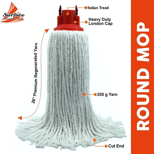 Elegant 250 Mop With 3' Ft ( 19 OD ) Stainless Steel Handle