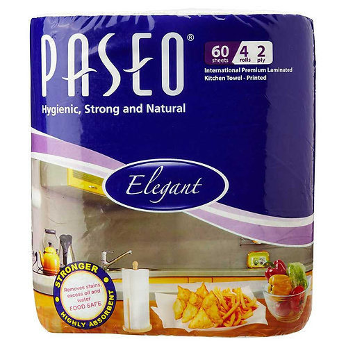 Paseo Tissues Printed Kitchen Towels - 4 Rolls ( 2 ply)