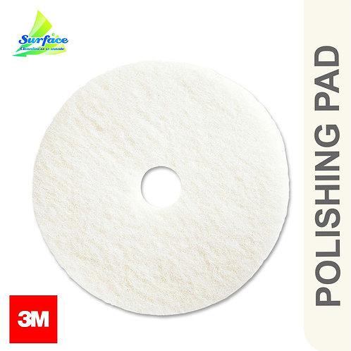 "3M Floor Polisher Pad , Size 17""- White"