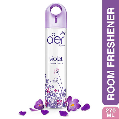 Godrej aer spray, Home & Office Air Freshener - Violet Valley Bloom (270 ml)