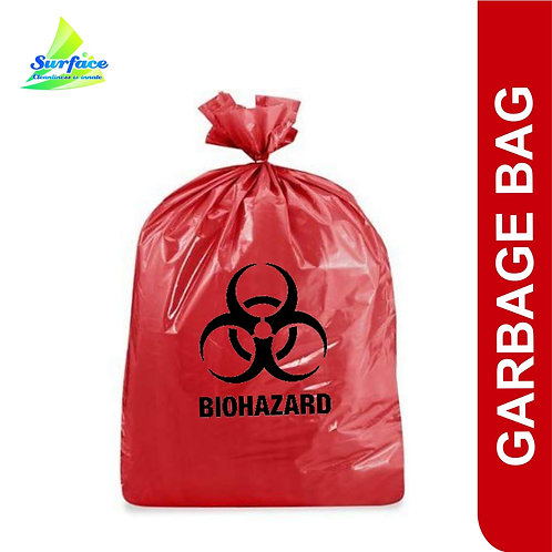Garbage Bag , Biohazard - Red