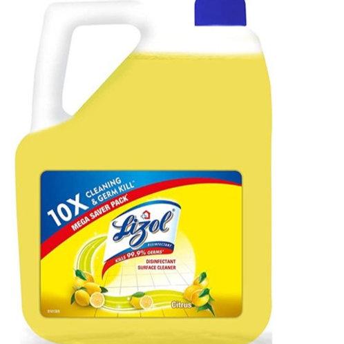 Lizol Disinfectant Surface Cleaner Citrus, 5L
