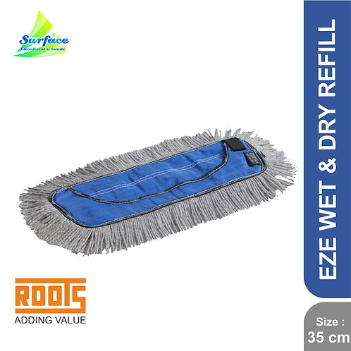 Roots Eze Clean Sleek Wet & Dry Mop Refill , 35 cm