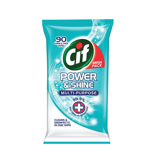 Cif Power&Shine Multi-Purpose Wipes 90pcs