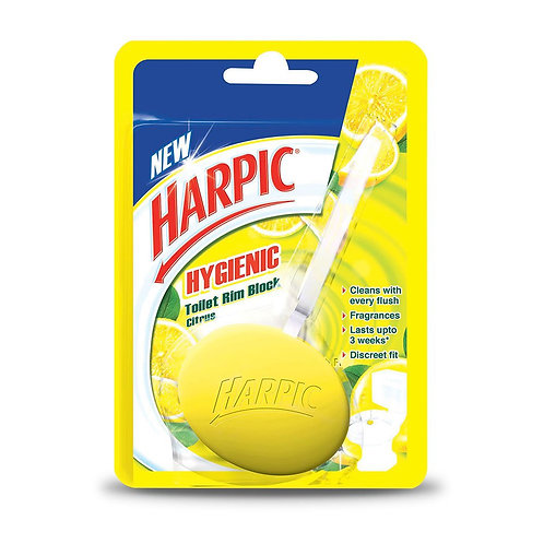 Harpic Hygienic Toilet Rim Block (Citrus) - 26 g