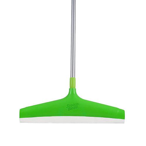 Scotch Brite Floor Squeegee Wiper with Telescopic Handle (Green/Silver)