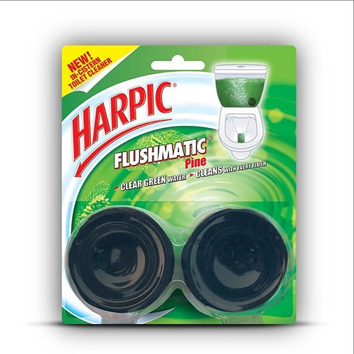 Harpic Flushmatic Twin In-Cistern Toilet Cleaner (Pine) - 100 g