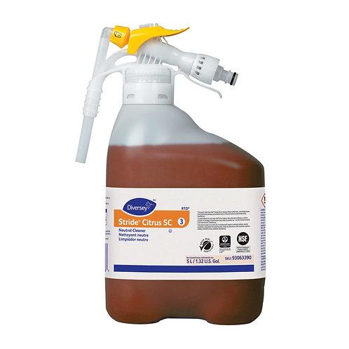 Stride Citrus Neutral Cleaner , 5 Ltr