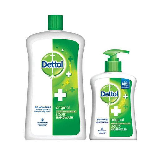 Dettol Liquid Hand Wash Jar Original 900 ml with Free Dettol Handwash 200 ml