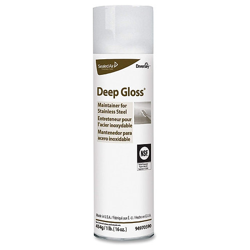 Diversey Deep Gloss Stainless Steel Maintainer , 16 Oz \ 454 gm