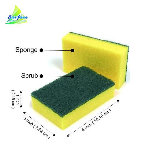 """Sponge  Scrub Pad - Size 3"""" x 4"""""""