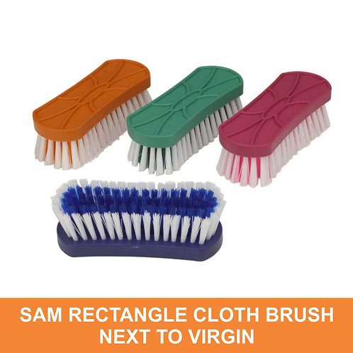 Sam Rectangle Cloth Brush, Next To Virgin ( Random Colour )