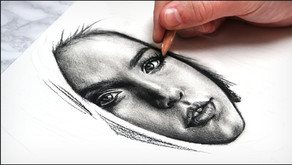 How to Draw a Face with Charcoal- 5 Step Shading Technique