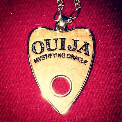 Ouija mini wooden planchette necklace