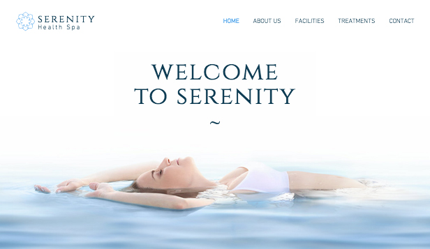 Wellness website templates – The Spa