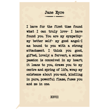 Jane Eyre Book Page Poster