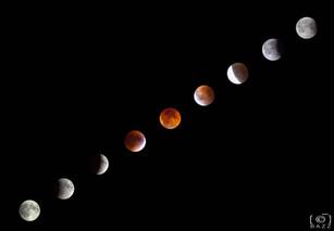 Chapelet lunaire de l'éclipse totale 2014