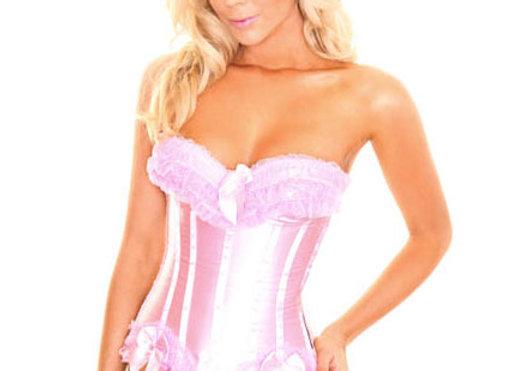 Elegant Pink Satin Corset